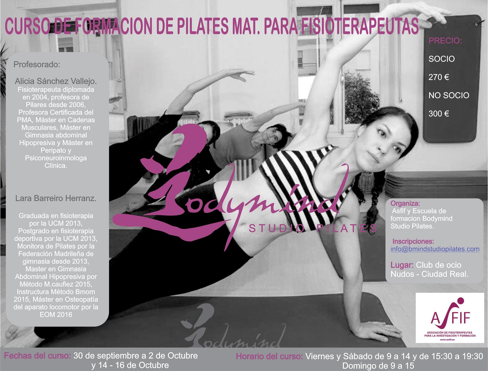 curso de formacion de pilates mat. para fisioterapeutas Bodymind Studio